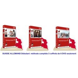 SUISSE ALLEMAND Débutant Méthode complète 6 DVD seulement